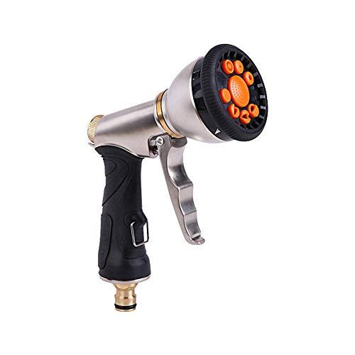 DealMux Gardena cabezal de ducha diseño antideslizante pistola rociadora de manguera para manguera de jardín pistola rociadora para lavado de autos Ajuste de control de flujo fácil
