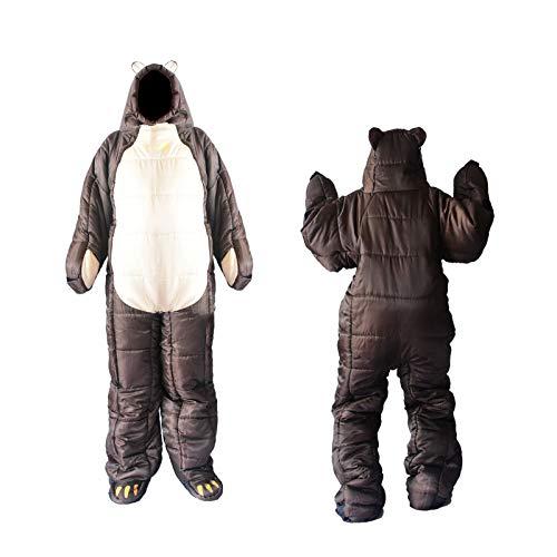 Saco de Dormir Momia, Impermeable con Bolsa de Compresión, 3 Estaciones, para Viajes, Camping,XL-170-185CM