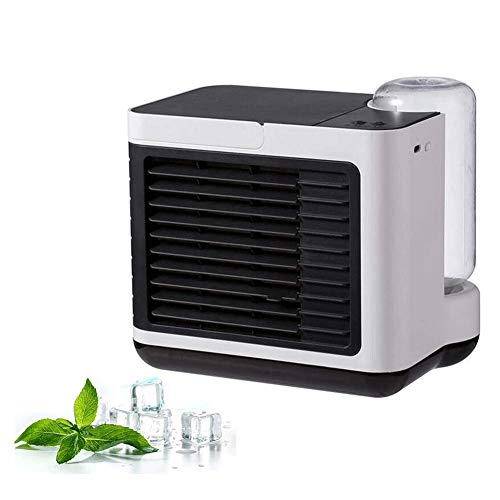 Mini Air Cooler, Personal Air luchtbevochtiger Night Light Fan 3 in 1 Evaporatieve luchtbevochtiger luchtreiniger Air HAOSHUAI (Color : A)