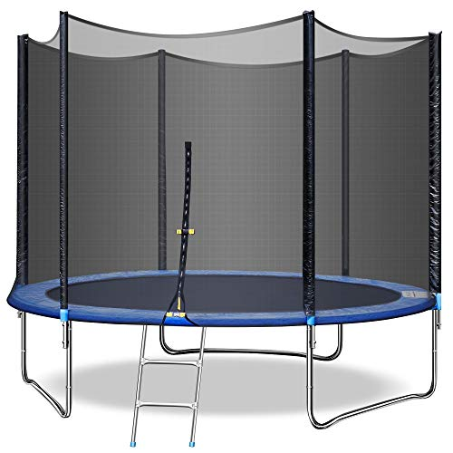 MaxKare 10 FT Trampoline with Enclosure-Outdoor Trampoline with Spring Cover & Net Recreational Rebounder for Kids Adults Backyard