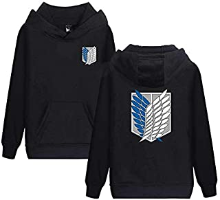 The Anime of Attack On Titan design hooded winter coat,fashion casual cotton hoodies sweatshirt for couples,black