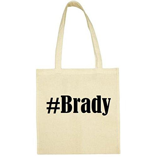 Tasche #Brady Größe 38x42 Farbe Natur Druck Schwarz
