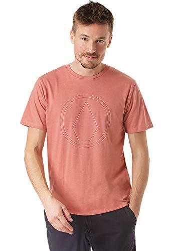 Volcom Pinner HTH SS Camiseta, Hombre, Sandstone, S
