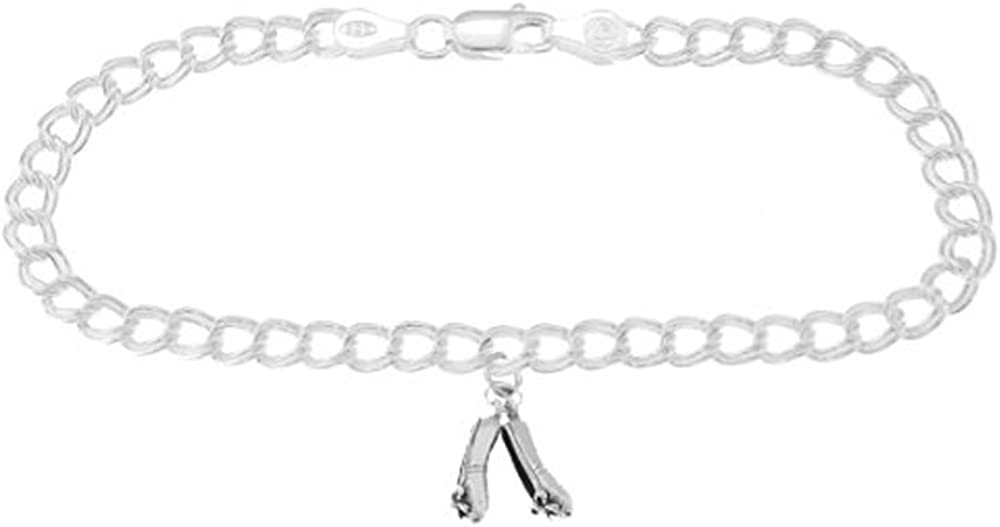 Sterling Max Max 89% OFF 65% OFF Silver Ballerina Slippers on Millimeters 4 Charm Bracel