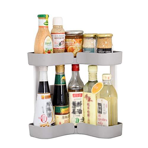 YZ Kunststoff Küchenregal Lagerung Bodenständer Eck-Doppel Regal Storage Rack Küche Storage Rack dsffsdf