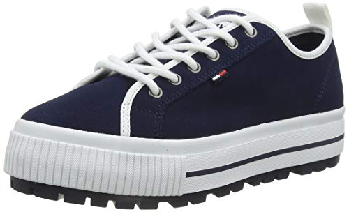 Tommy Hilfiger Damen Paige 4b Sneaker, Blau (Black Iris Cbk), 40 EU