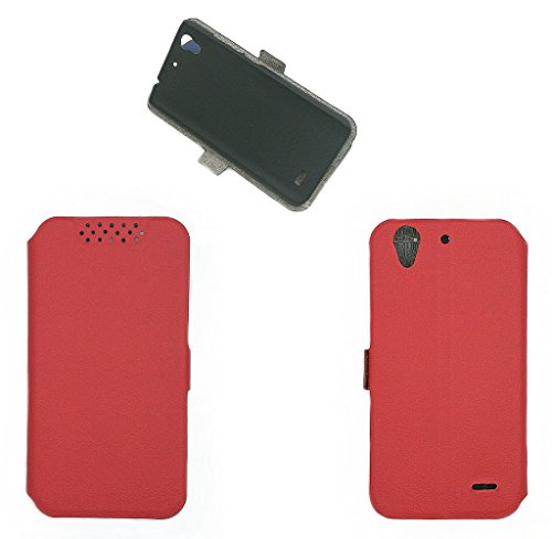 QiongniAN Hülle für Huawei Ascend G630-U20 G630-U10 Hülle Schutzhülle Hülle Cover Red
