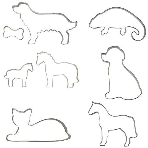 netproshop Große Plätzchenform Tiere Keksform Edelstahl mit und ohne Schnittmuster Auswahl, Auswahl:Pferd