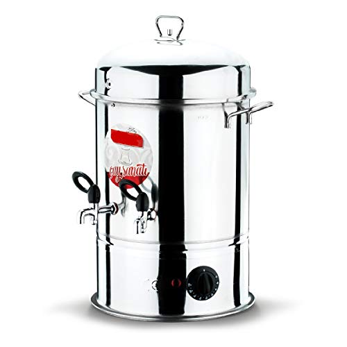 Uzman-Versand Teemaschine Samowar 11 Liter Elektrisch Teekanne Teekocher Teebereiter Cay Demlik Teekanne Teeautomat