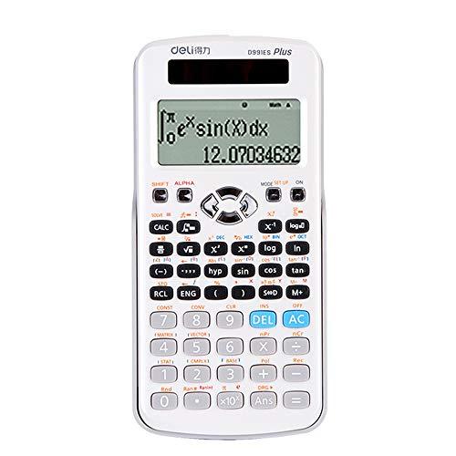 Unbekannt Erweiterter Wissenschaftlicher Taschenrechner, Student/BüRo/üBerzugsknopf 12-Stelliger Digitaler AnzeigewäHrungsrechner, GeschäFtsstandardfunktionen Tischrechner