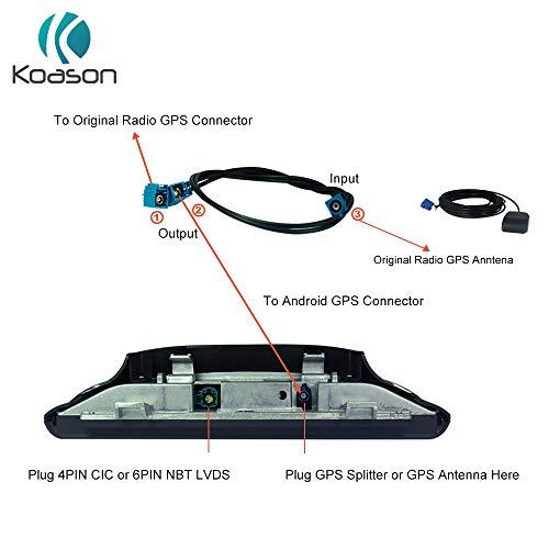Koason Car GPS Antenna Splitter Cable for BMW Benz Audi Android Screen Display Car Audio Video