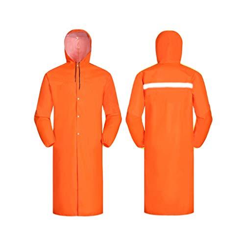 ZNZN Naranja Reflectante Traje, Chaqueta de Tela Oxford Seguridad Impermeable y Transpirable Impermeable de Alta Luz Visible Largo Trajes Chalecos de Seguridad (tamaño : XXX-Large)