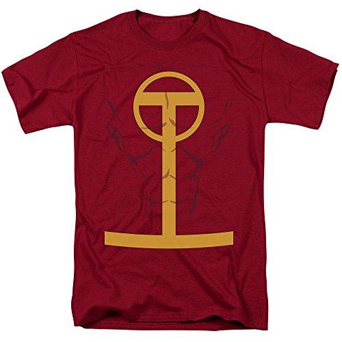 T-shirt de la Ligue de la justice - Rouge Tornado - Taille XXL