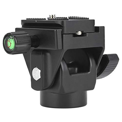 Neigekopf für Einbeinstativ und Stativ, VD-12 Kugelkopf Vogelbeobachtung Neigekopf aus Aluminiumlegierung mit 1/4 Zoll Schraube Schnellwechselplatte, Neigungsbewegung von ± 90 °