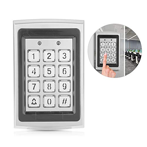 Bewinner RFID Türöffner Codeschloss, RFID-Karten-Türzugriffs-Controller-Tastatur Wasserdichte Codeschloss Zutrittskontrolle Türöffnung für Zuhause Büro Hintergrundbeleuchtete Tastatur