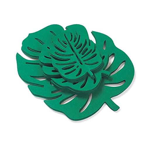 鍋と鍋の仕切りのパンポットプロテクター吸収性のフェルトコースターが抵抗力があるホットパッドのコーヒーテーブルの装飾 (Color : Turtle Leaf)