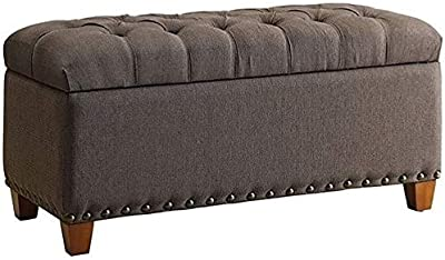 Swell Amazon Com Trent Home Carino Storage Ottoman In Black Gmtry Best Dining Table And Chair Ideas Images Gmtryco