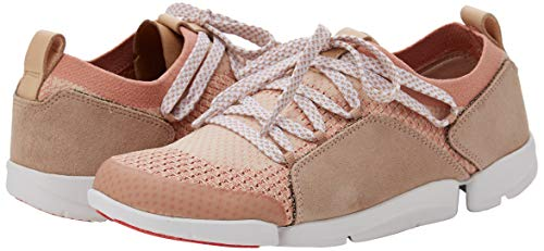 Clarks Women's Tri Amelia Low-Top Sneakers, Pink (Light Pink Combi-), 7 UK