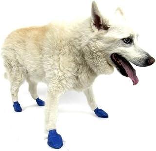 Pawz パウズ ラバーブーツ ブルー M 犬用シューズ 薄手で着用を嫌がりにくい 防水 雨 雪 夏の暑いアスファルト お出かけ 散歩 お試し4枚セット