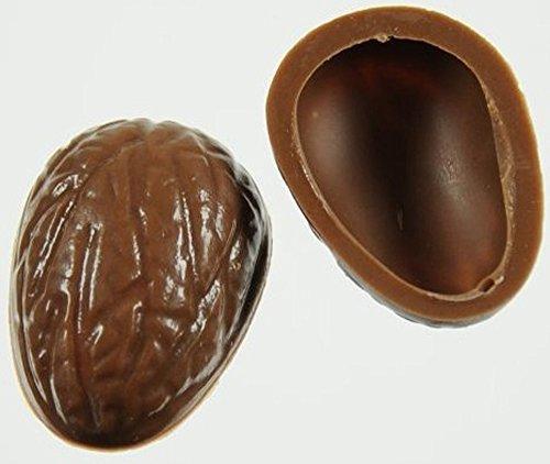 Walnuss Halbschalen Schalen Pralinen Hohlkörper Vollmilch, Zartbitter, Weiß, gemischt (14 Lagen Vollmilch)