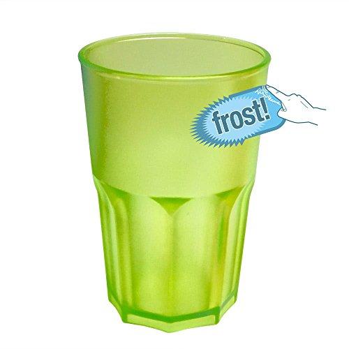 Cóctel de plástico Dura de Cristal de DOIMO Flair Granity 40Cl Frost Aspecto Más Vía Taza de plástico Duro y Set 5Unidades apilable partygeschir bruchfestes Lavavajillas Long Drink Vasos de Whisky.