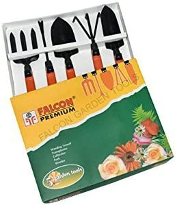 Falcon FGTB-95/5 Steel Garden Tool Set (Multicolour, 5-Pieces)