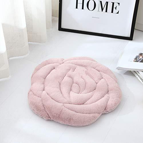 Rozenvorm, zitkussen, polyestermateriaal, afmeting 45 x 45 cm, 55 x 55 cm, geschikt voor bureaustoel, slaapbank, woonkamer, slaapkamer, herfst en winter Tatami, gewatteerd kussen.