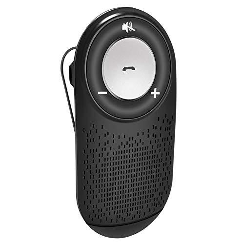 Coche Bluetooth 4.1,Manos Libres para Coche Kit Auto Power On Adaptador Audio Bluetooth con Siri y Google Asistente,Altavoz Fuerte con Subwoofers,Soporta GPS, Música, Altavoz Inalámbrico para