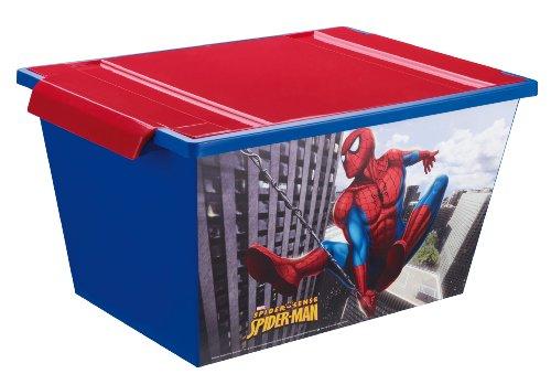 Rotho Babydesign 7737640156 – Creativ Roller Boîte de rangement Motif Spiderman 45 L