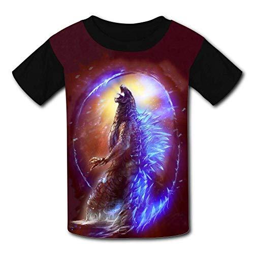 Kmehsv Real Hasta La-Muerte Jugend Kurzarm T-Shirt Schwarz Black 3D Printed Kid Tee