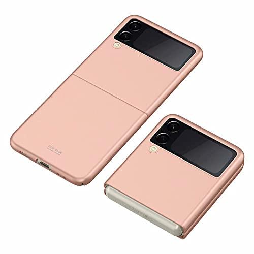 FTRONGRT Hülle für Samsung Galaxy Z Flip 3, Ultra Dünn, Leicht, Anti-Kratzer, Stoßstange Hardcase Handyhülle für Samsung Galaxy Z Flip 3-Roségold