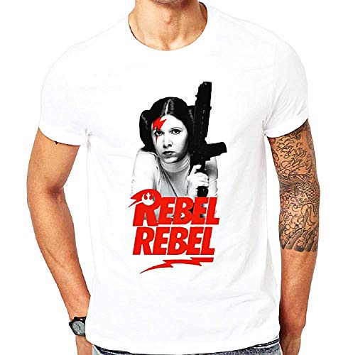 Camiseta rebelde rebelde - Princesa Leila - David Bowie - Hombre - niño - Color Blanco