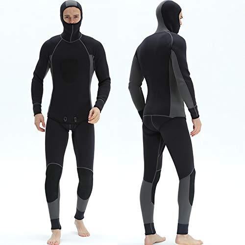 Xiaojie Traje de buceo dividido para hombre de 3 mm de profundidad para nadar con manga larga fría y cálida, elástica para surf, pesca de medusas (color: 2, tamaño: L)