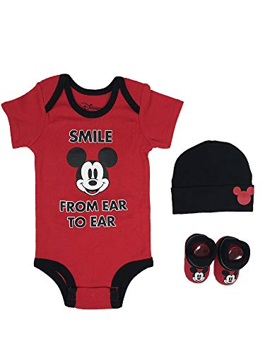 Disney mens Mickey Mouse 3-pc Set Gift Box Infant and Toddler Costumes, Mickey, 0-6 Months US