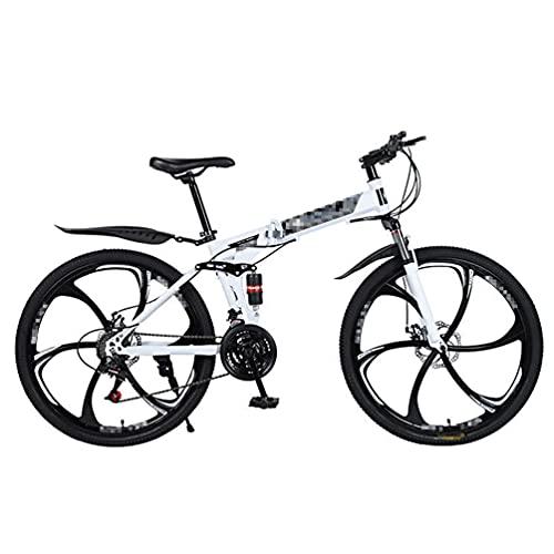 Bicicleta De MontañA Plegable,Bicicleta De Ciudad,MúLtiples Opciones De Modo De Velocidad,Ruedas De Seis Ejes De 26 Pulgadas,Adecuado Para Hombres/Mujeres/Adolescentes,Varios Colores