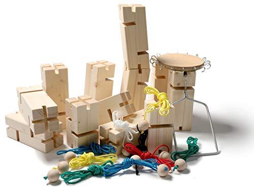IMPULS TRAINING · TOOLS Teamkran | Fröbelturm | Teamspiel mit 12 Bauelementen | eine Starke Kommunikationsübung