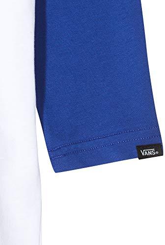 Vans Classic Raglan Boys T-Shirt, Multicolore (White/Sodalite Blue Ynj), Medium Bambino