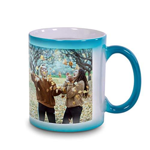 Kopierladen Zaubertasse aus Keramik mit Thermo-Effekt - Grüne Fototasse mit eigenem Motiv selbst gestalten - Tasse mit Magiceffekt durch Erhitzen