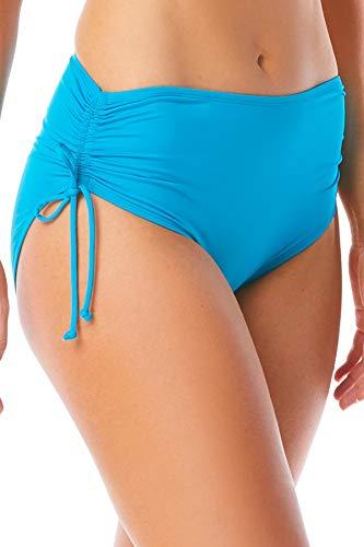 BEACH HOUSE SPORT Women's Hayden High Waisted Bikini Swimsuit Bottom with Adjustable Side Ties, paloma Solids Coastal Jade, 14
