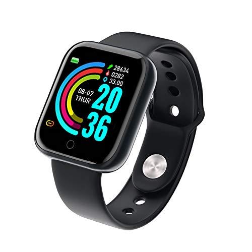 Fitness Trackers - Reloj inteligente con monitor de presión arterial de frecuencia cardiaca, monitor de actividad con monitor de sueño, podómetro de marcha para hombres y mujeres