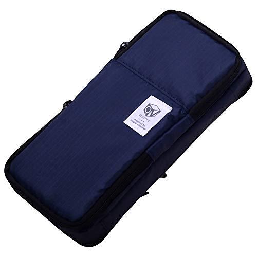 フェリモア ペンケース 大容量 ファスナー 多機能 仕切り メッシュポケット 筆箱 ペン収納 ポーチ