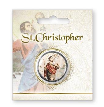 Cross My Heart Moneda de bolsillo de San Cristóbal de 3,25 cm, con texto en inglés 'San Cristóbal en el reverso'