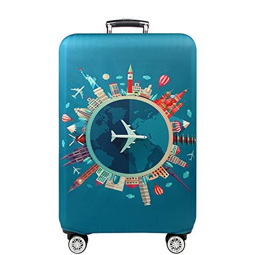 Kofferhülle Elastisch Kofferhülle Bambus Kohlefaser 18-32 Zoll Kofferschutzhülle Gepäck Cover Reisekoffer Hülle Kofferschutz Luggage Cover Gepäckabdeckung (Color 2, L)