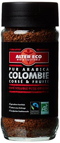 Alter Eco Café Instantané Bio & Équitable - Pur Arabica -Origine Colombie - 100 g