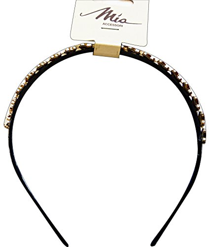 Haarband f10322 applicatie goud/strass
