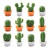 BESTONZON 12 piezas nevera imanes lindos cactus forma Mini nevera imanes Niedlichen Divertidos imanes decorativos (ocasional patrón)