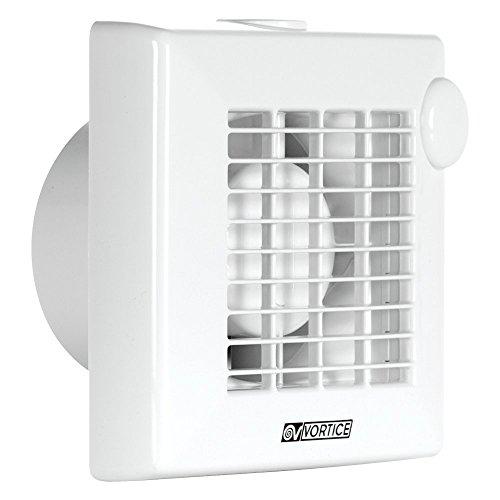 Vortice 11211 Aspiratore elicoidale per Muro Vetro Punto, 230 V, Bianco
