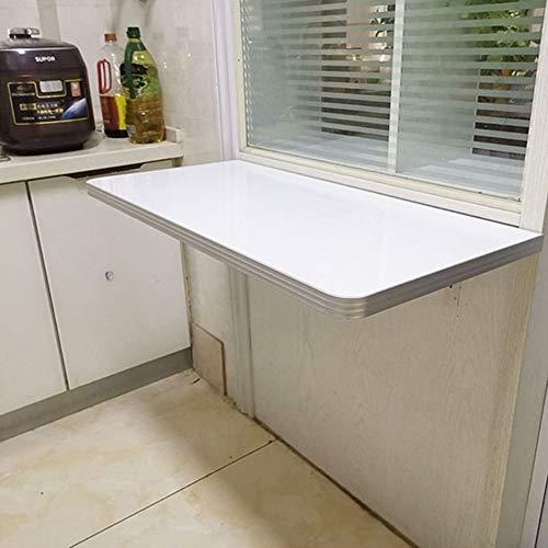 Keuken Opvouwbare Eettafel Wandmontage Computer Bureau Huishoudelijke Druppelblad Tafel Voor Kleine Ruimte (Wit), Lading 100kg