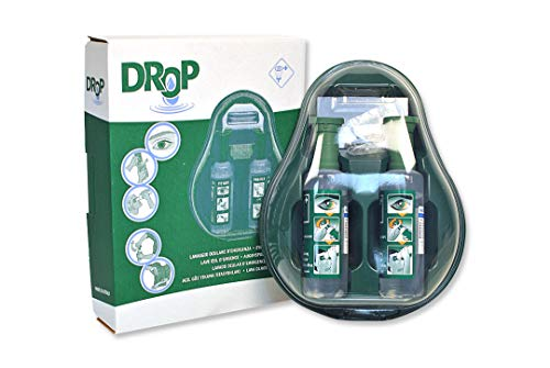 Drop Augenspülstation, 2 Flaschen sterile Lösung, 1L