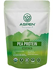 Aspen Naturals Organic Pea Protein - 26.5 oz. Unflavored, Plant Based, Gluten Free, Non-GMO Vegan Protein Powder. Supports Muscle Growth and Recovery. Keto & Low Carb